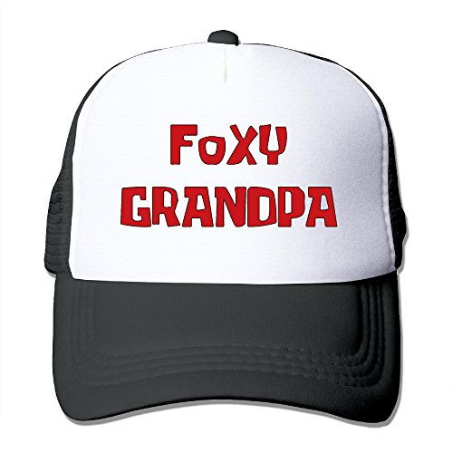 Foxy Grandpa Unisex Mesh Truck Hat Caps Outdoor Sports (5 Colors) (Cap Season Clothing)