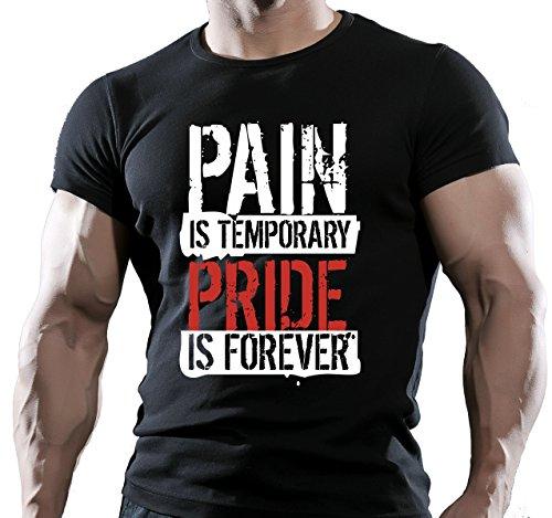 "SCHMERZEN & PRIDE HERREN FITNESS-MOTIVATION GOKU BODYBUILDING T-Shirt ""MMA TRAININGSSHIRT"