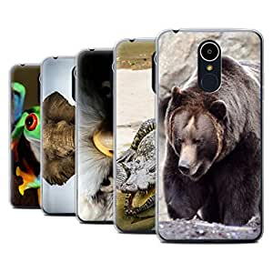 STUFF4 Gel TPU Phone Case / Cover for LG K8 2017/M200 / Multipack (20 Pck) / Wildlife Animals Collection