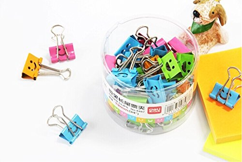 "40 pcs. deli 8487 19mm 3/4"" liras clip purse dovetail clip paper clip metal smile binder clip"