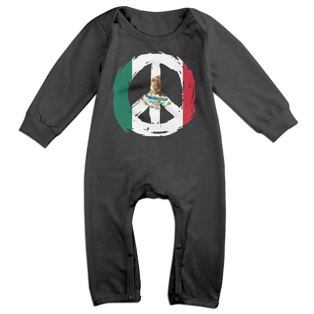 Mri-le1 Baby Boy Coverall Mexico Flag Peace Kid Pajamas
