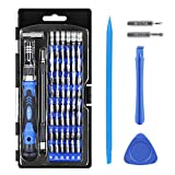 Syntus 63 in 1 Precision Screwdriver Set with 56 Bit Magnetic Screwdriver Kit Professional Electronics Repair Tool Kit for iPhone, Tablet, Macbook, Xbox, Cellphone, PC, Game Console, Black and Blue