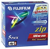 Fujifilm(R) Zip 100MB Disks, Mac Format, Pack Of 5