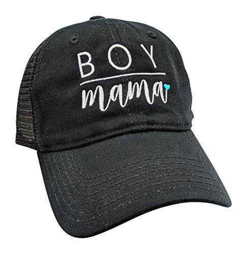 Customized, Mom, Boy Mama, High Ponytail Baseball Cap (Black/Customized) ()