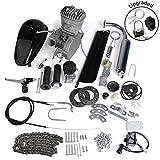 e engines - AURELIO TECH 80cc 2-Stroke Motor Engine Kit Gas for Motorized Bicycle Bike Silver