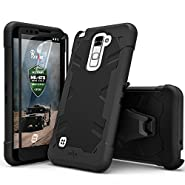 LG Stylo 2 Case Zizo Proton Cover [Military Grade Drop Tested] with FREE 0.3m 9H [Stylo 2 Tempered Glass Screen Protector] Kickstand Holster Belt Clip