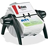 Durable 241701 VISIFIX Rotary Business Card File Holds 400 4 1/8 x 2 7/8 Cards, Black/Silver