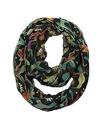 MissShorthair Infinity Scarves for Women Floral Birds Tree Print