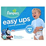 Pampers Easy ups training underwear boys size 5 3t-4t 72 count