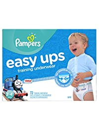 Pampers Easy Ups Training Pants Pull On Disposable Diapers for Boys Size 5 (3T-4T), 72 Count, SUPER BOBEBE Online Baby Store From New York to Miami and Los Angeles