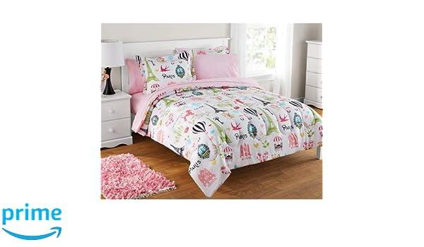 Amazoncom Twin Size Bag Bedding Set Kids Paris Bed In Pink Baby