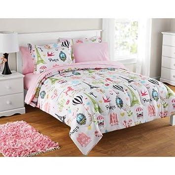 Amazoncom Full Size Bag Bedding Set Kids Paris Bed In Pink Baby