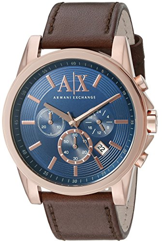 Armani-Exchange-Mens-AX2508-Brown-Leather-Watch