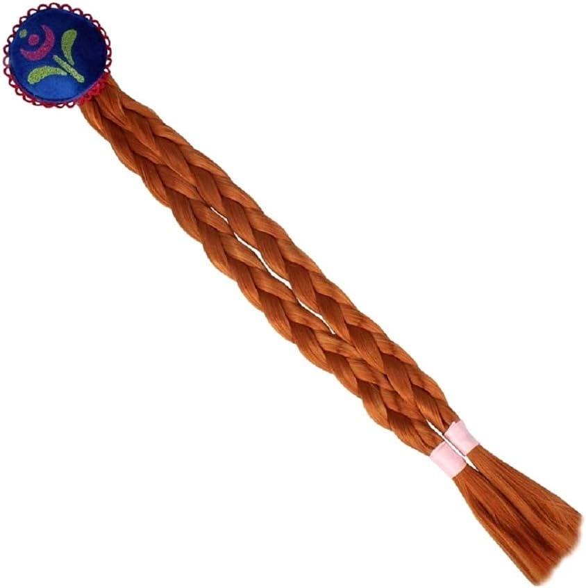 color cobre accesorio ideal para disfraz Extensiones de pelo trenzado