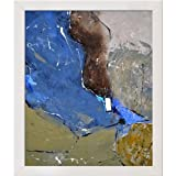 overstockArt 18772 Ledent Abstract Canvas with Simply White Clean Line Wood Frame