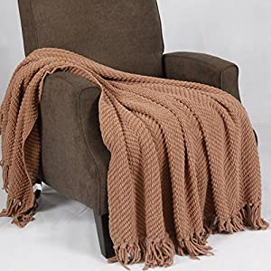 Home Soft Things Tweed Knitted Throw Blanket from BNF Home