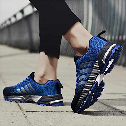 Pictures of KUBUA Mens Running Shoes Trail Fashion Sneakers Tennis Sports Casual Walking Athletic Fitness Indoor and Outdoor Shoes for Men EU 45/11 D(M) US F Blue 7