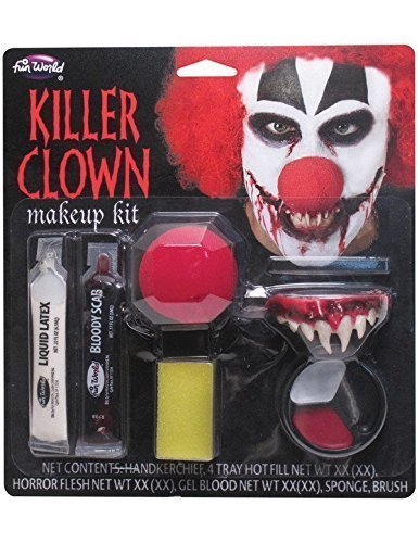 Fun World Killer Clown Makeup Kit Costume Makeup