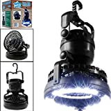 Homebeast 2 in 1 Camping Lantern & Ceiling Fan 18 LED Hanging Light Outdoor Camping Hiking Lamp Fishing Outages and Emergencies Tent Light