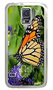 Transparent Fashion Case for Samsung Galaxy S5 Generation Plastic Case Cover for Samsung Galaxy S5 with Butterfly