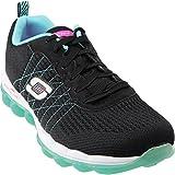 Skechers Sport Women's Skech Air Style Fix Fashion Sneaker,Black/Blue,8 M US