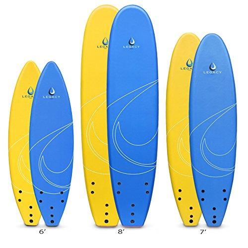 Legacy Weich Surfbrett Anfänger Surf Board 243,8-6ft 7ft 8ft, gelb