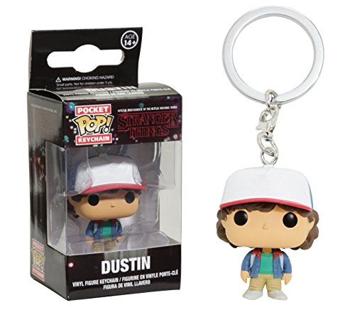 Stranger Things-Funko Pop Keychain Dustin Llavero de Vinilo, Multicolor 14229