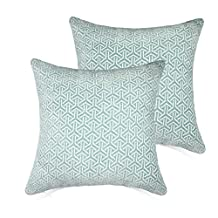 Set of 2 Throw Pillow Covers Coastal Cushions 100% Cotton Home Decorative 20 x 20 inch(50x50cm) Soft Pillow Case Covers Invisible Zipper Decorative Pillow Case No Pillow Insert Furniture Cushions