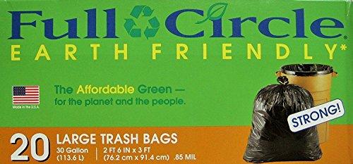 (Full Circle - Large Trash Bags - Earth Friendly - 30 Gallon - 20 Ct)