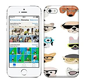 Loving Pop Dogs With Glasses Print phone case for iphone 5/5s by icecream design