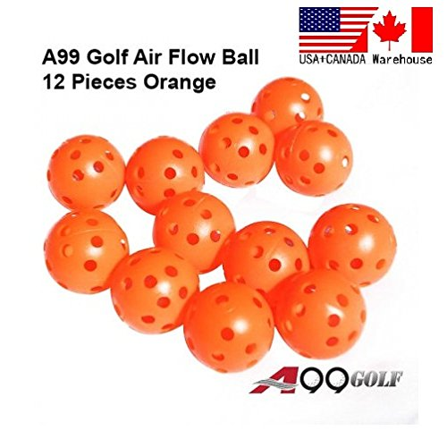 12pcs Golf practice air flow balls training aids Orange color by A99 Golf (Image #2)