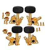 DN 1 Set Gold-Plated 2R2L Tuning Peg Machine Head Tuners For Ukulele 4 String Guitar