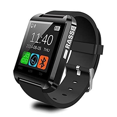 U-watch U8S, Rasse IPX6 Waterproof Uwatch U8S Bluetooth 3.0 Smartwatch for iOS Apple iPhone 6,iPhone 6 Plus,iPhone 5s/5c/5/4s/4 Android Samsung S2/S3/S4/S5/Note 2/Note 3/Note 4 HTC Sony Blackberry Smartphone