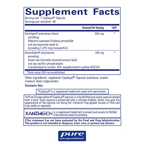 Pure Encapsulations - XanthiTrim - Dietary Supplement to Support Healthy Fat Metabolism and Metabolic Rate* - 60 Caplique Capsules by Pure Encapsulations (Image #1)