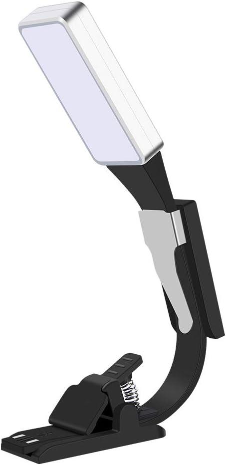 Libro lámpara LED recargables, USB Lectura Libro Pinza Led Lectura ...