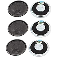 uxcell 2W 40mm Diameter 8 Ohm Internal Mini Magnet Speaker Loudspeaker 6Pcs