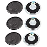 uxcell a15112300ux1550 2W 40mm Diameter 8 Ohm Internal Mini Magnet Speaker Loudspeaker 6Pcs Pack of 6