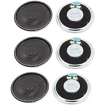 Uxcell a15112300ux1550 2W 40mm Diameter 8 Ohm Internal Mini Magnet Speaker Loudspeaker 6Pcs (Pack of 6)