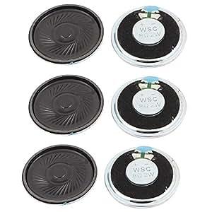uxcell 2W 40mm Diameter 8 Ohm Internal Mini Magnet Speaker Loudspeaker 6Pcs