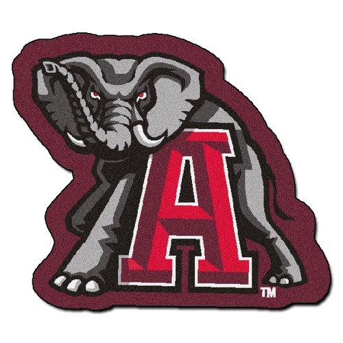 - FANMATS NCAA University of Alabama Crimson Tide Nylon Face Mascot Rug