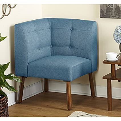 Simple Living Wood Fabric Playmate Corner Chair, Blue