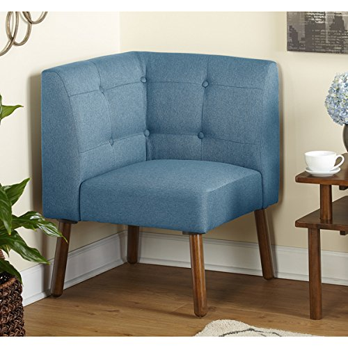 Simple Living Wood Fabric Playmate Corner Chair, Blue (Corner Small Chairs)