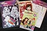 : Set of 3: Bratz Velvet Doodle, Bratz Coloring Book & Bratz Sticker Book