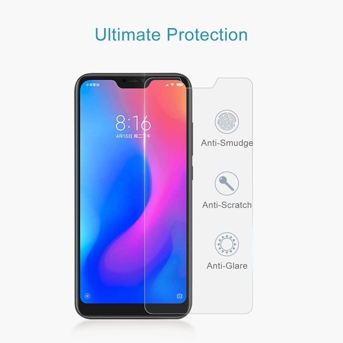 ZYS Screen Protector 100 PCS Smartisan Nut Pro 0.26mm 9H Surface Hardness 2.5D Curved Edge Tempered Glass Front Screen Protector