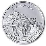 Silver Wildlife Series - 2011 Grizzly Bear 1 oz