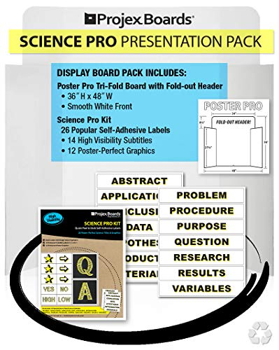 Science Pro, Poster Display Board Kit with 26 High Visibility Titles & Graphics