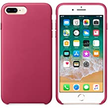 AIMTOPPY Ultra-Thin Leather Soft Protective Case Cover For iPhone 8/7 plus 5.5inch (free, Hot Pink)