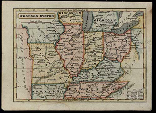 Amazon.com: Western United States MO IL 1840 & 1851 lot x 2 variant on il construction map, il concealed carry map, il route 66 map, il county map, il senate map, il u.s. representatives map, il water map, il weather map, il wi map, il michigan map, il map with cities, il general assembly map,