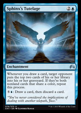 Magic: the Gathering Sphinx39;s Tutelage (076/272) - Origins (Card Sphinx)