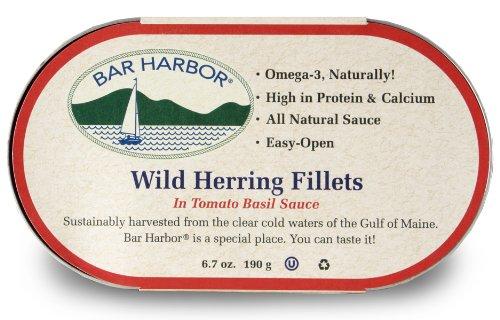 Bar Harbor Wild Herring Fillets, Tomato Basil Sauce, 6.7